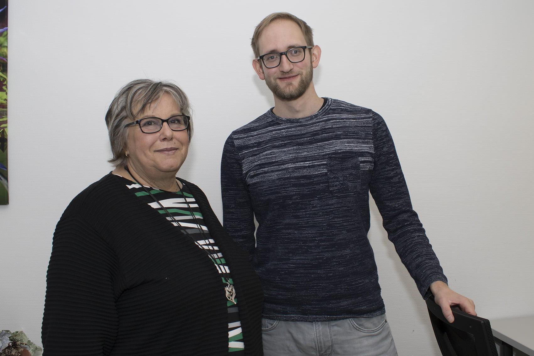 """Roswitha Zadow und Benedikt Tworek leiten die Selbsthilfegruppe """"Echo"""""""